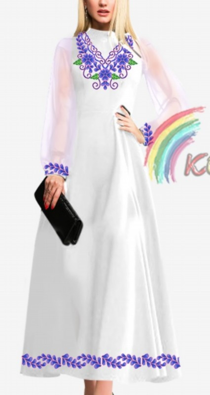 ПЖ-007 Сукня з шифоновими рукавами