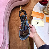 Босоножки Луи Витон Passenger натуральная кожа, фото 7