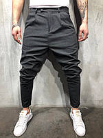 Мужские брюки темно-серые P1102