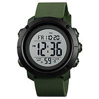 Skmei 1426 зеленые с белым мужские спортивные часы, фото 1