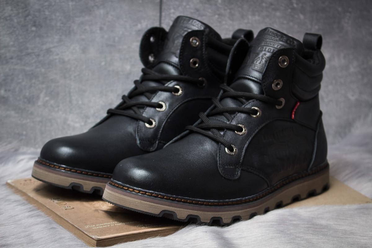 Зимние ботинки  на мехуLevi's Genuine, черные (30852) размеры в наличии ► [  41 42 44  ]