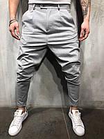 Мужские брюки серые P1102