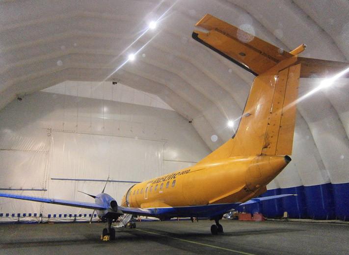 Пневмокаркасное сооружение, ангар для самолета