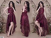 0aa7ba400e5 Платье женское нарядное вечернее ассиметричное атласное 42-46 размеров