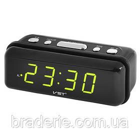 Часы электронные сетевые VST 738-2 Зеленое свечение