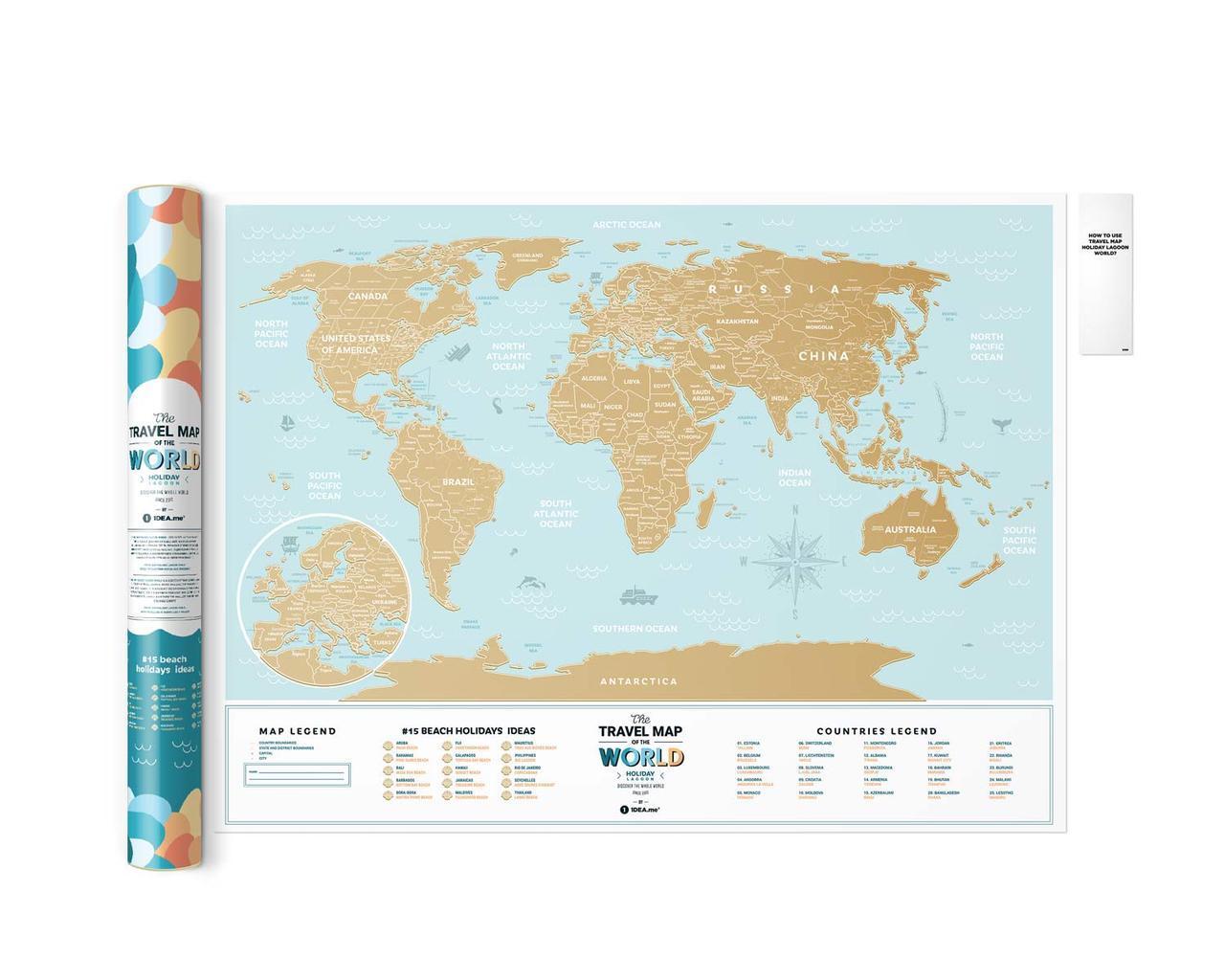 Скретч Карта Мира Travel Map® Holiday Lagoon
