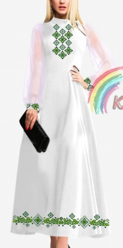 ПЖ-013А Платье с шифоновыми рукавами