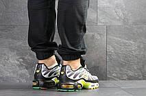 Кроссовки мужские Nike air max TN, серые с желтым, фото 2