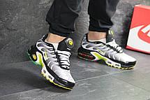 Кроссовки мужские Nike air max TN, серые с желтым, фото 3