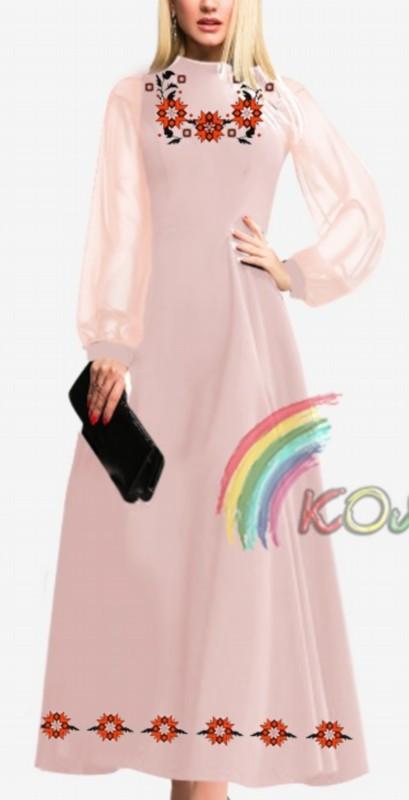 ПЖ-014 Сукня з шифоновими рукавами