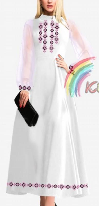 ПЖ-018 Сукня з шифоновими рукавами