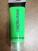Краска акриловая (зеленая, салатовая)
