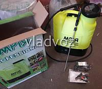 Опрыскиватель аккумуляторный садовый распылитель сад ранцевый Мрія на 16 литров на аккумуляторе