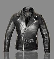 Косуха мужская,куртка кожаная байкерская.Натуральная кожа.