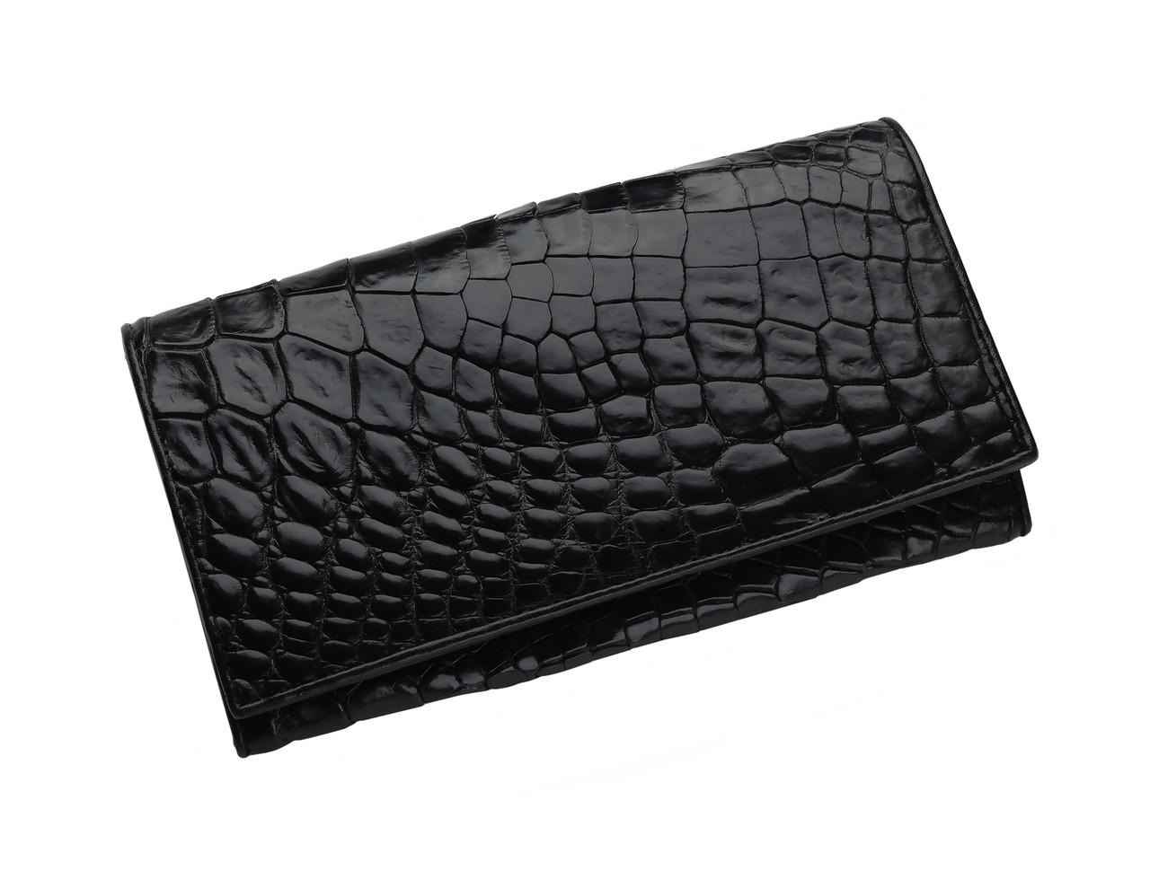 Кошелек из кожи крокодила Ekzotic Leather Черный  (cw 94)
