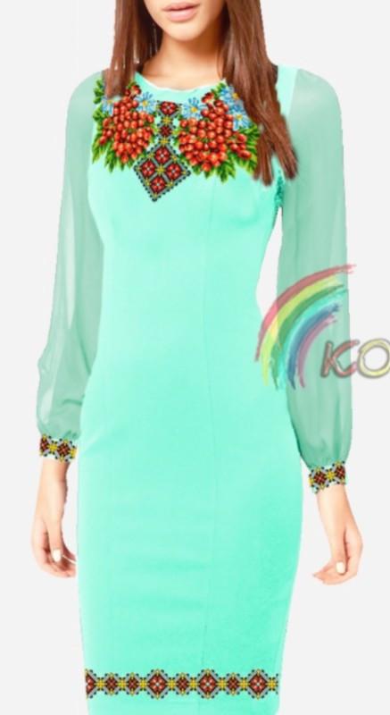 ПЖ-015 Платье с шифоновыми рукавами