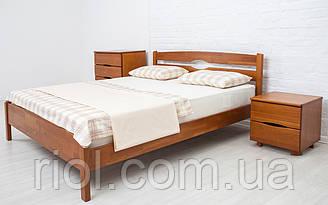 Односпальне ліжко з бука Ліка Люкс ТМ Олімп