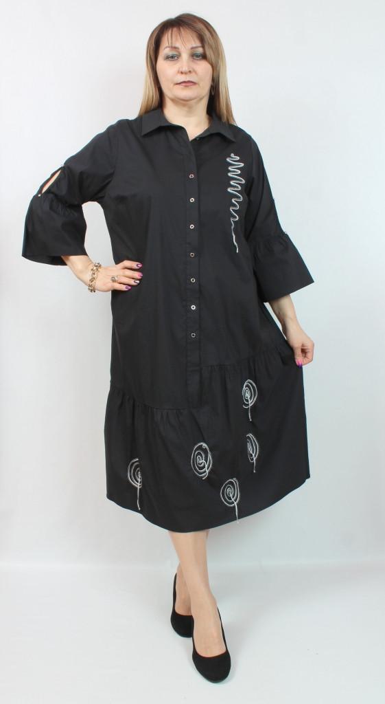 Турецкое женское платье-рубашка, размеры 54-66