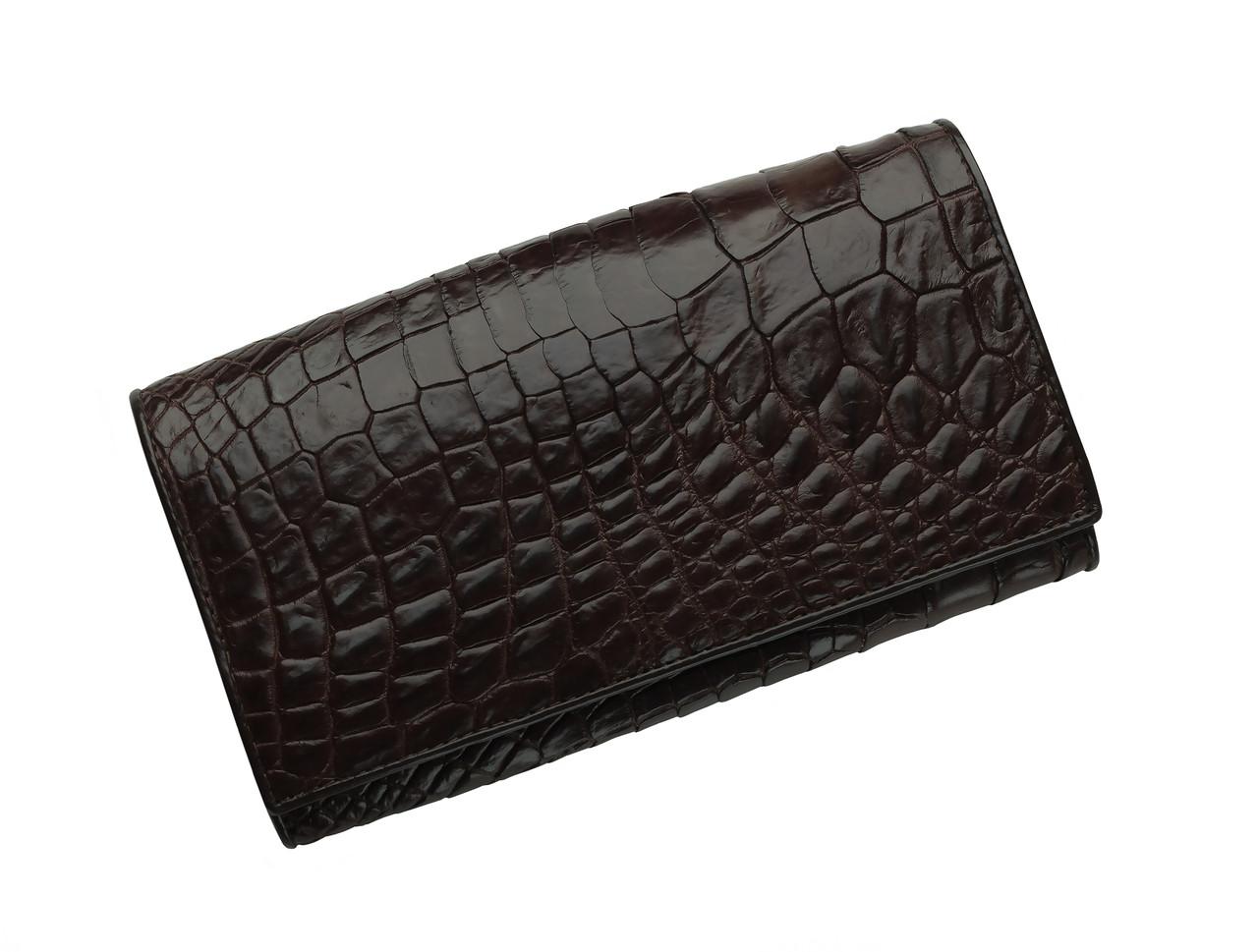 Кошелек из кожи крокодила Ekzotic Leather Коричневый  (cw 95)