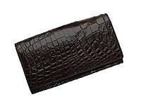 Кошелек из кожи крокодила Ekzotic Leather Коричневый  (cw 95), фото 1