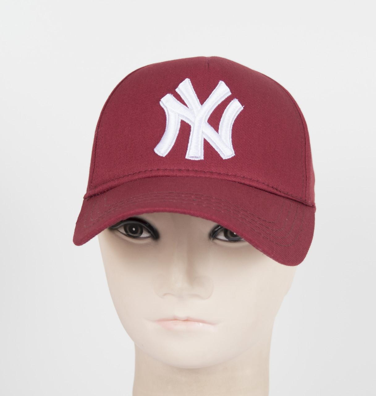 """Бейсболка """"Котон 5кл"""" I-01 NY марсала"""