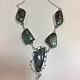 Хризопраз ожерелье с индийским хризопразом в серебре, фото 4