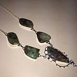 Хризопраз ожерелье с индийским хризопразом в серебре, фото 5