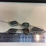 Хризопраз ожерелье с индийским хризопразом в серебре, фото 6