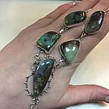 Хризопраз ожерелье с индийским хризопразом в серебре, фото 2