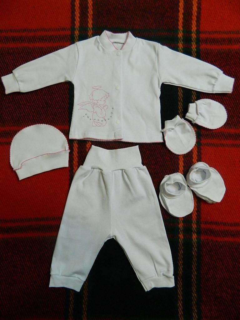 Набор крестильный для новорожденной девочки на рост 68 см