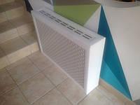 Короб на радиатор 1200мм*600мм Омега Белый (включает экран)