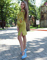 """Сукня жіноча лляна вишита """"Квітуче коло"""" розміри в наявності 42, фото 1"""