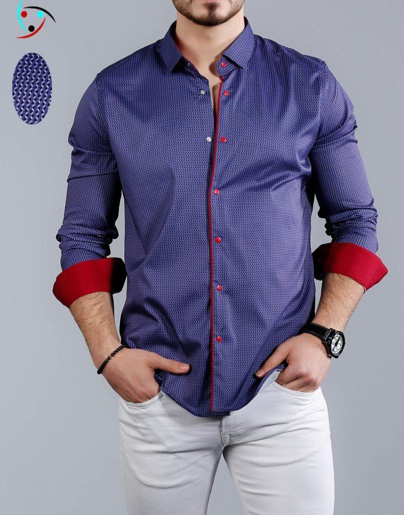 Приталенная мужская рубашка
