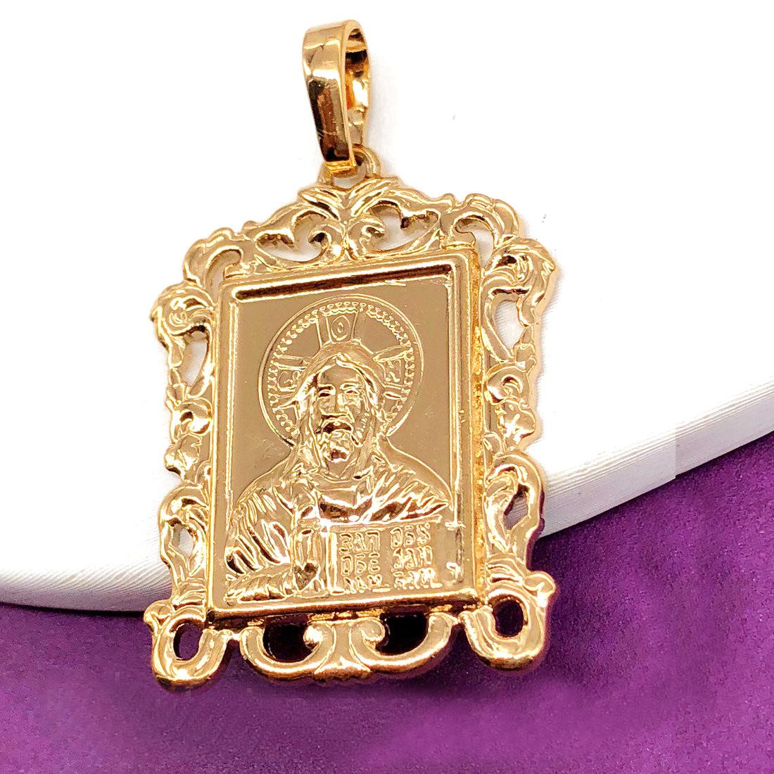 Ладанка Xuping иконка Иисус Хрстос 3.6см л334