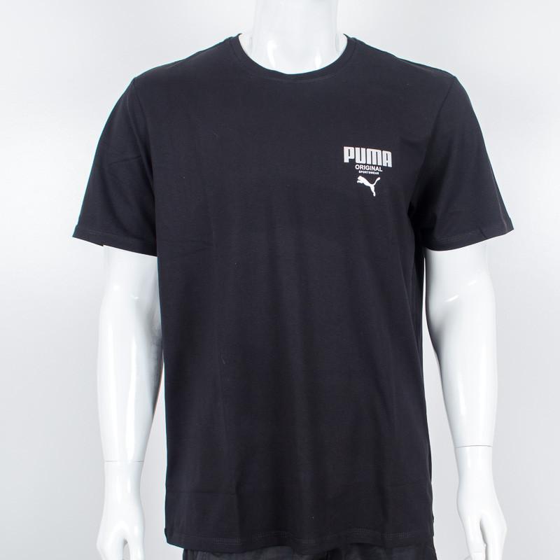 Футболка-батал с логотипом, Puma (Черный)