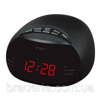 Часы электронные сетевые VST 901-1 Радио, фото 2