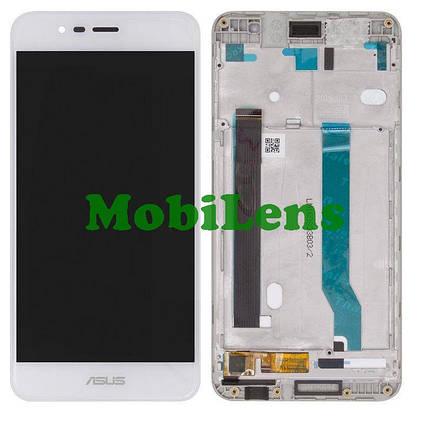 Asus ZC520TL, ZenFone 3 Max, Pegasus 3 X008D Дисплей+тачскрин(модуль) белый *в рамке, фото 2
