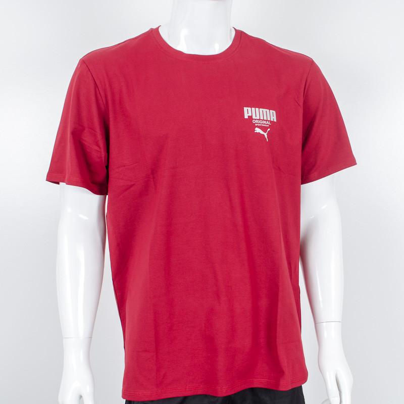 Футболка-батал с логотипом, Puma (Бордовый)