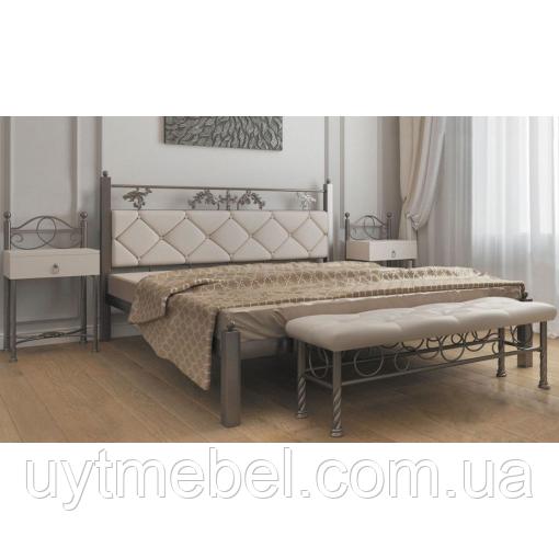 Кровать Стелла 1600х2000 метал+беж (Металл Дизайн)