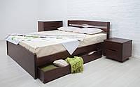 Кровать из бука Лика Люкс с ящиками ТМ Олимп