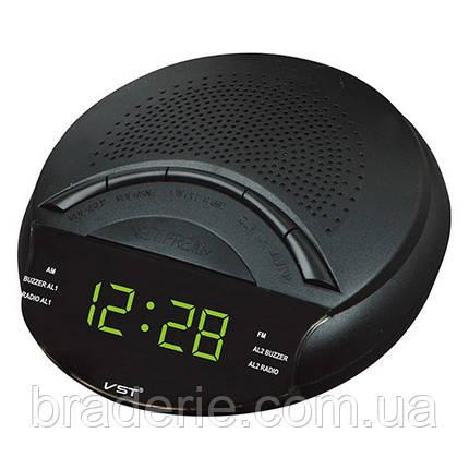 Часы электронные сетевые VST 903-2 Радио FM/AM Зеленое свечение, фото 2