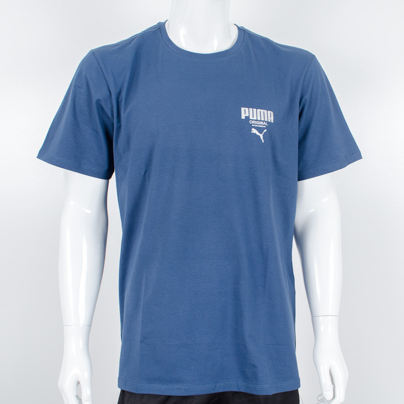 Футболка-батал с логотипом, Puma (Джинс)