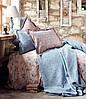 Karaca Home постельное белье ранфорс Patara indigo mavi евро