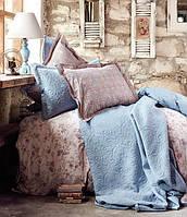 Karaca Home постельное белье ранфорс Patara indigo mavi евро, фото 1