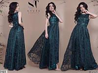 Платье женское длинное нарядное красивое органза 42-46 размеров, 7 цветов