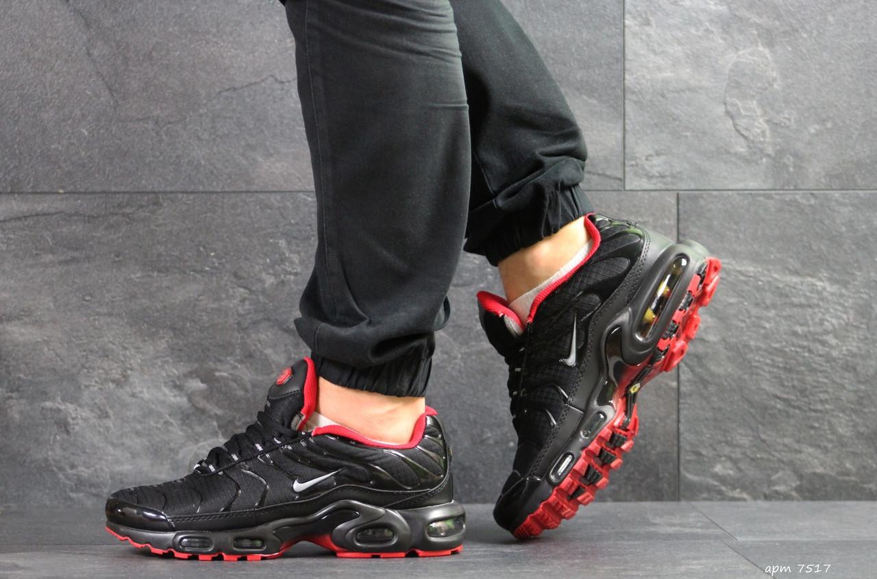 Кроссовки мужские Nike air max TN,черные с красным 44р