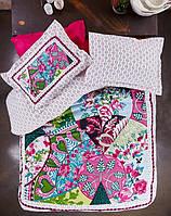 Karaca Home постельное белье ранфорс Suelita pembe 2016 пано евро, фото 1