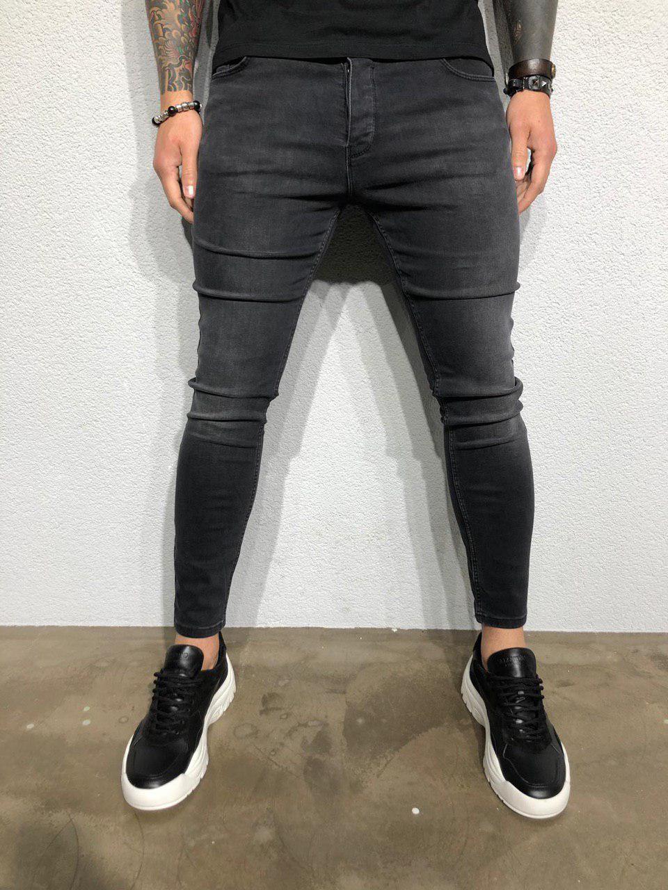 e3a27db41dd Мужские джинсы зауженные темно-серые 5093-3363  продажа