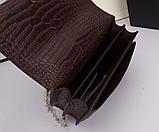 Сумка, клатч Sunset Ив Сен Лоран рептилия, натуральная кожа, цвет марсала с серебром, фото 6