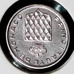 Монета Монако 1 сантим 1995 г. UNC из набора, фото 2